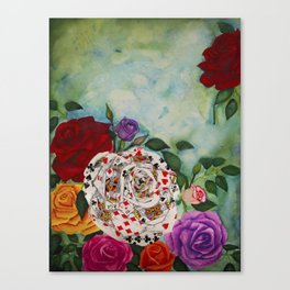 Rose of Cards Canvas Print