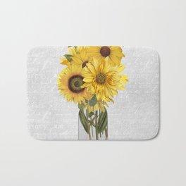 Vintage Sunflower Bath Mat