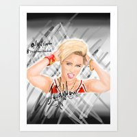 miley Art Prints featuring Miley by Marven RELOADED