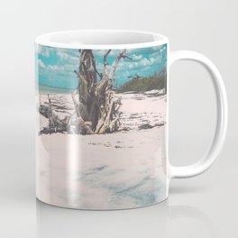 Ocean shore and fallen tree in Lovers Key, Florida Coffee Mug