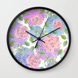 floral pattern vb Wall Clock
