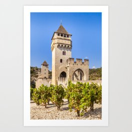 Pont Valentre, Cahors, France Art Print