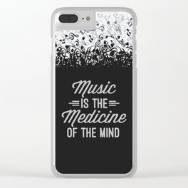 Music Medicine Mind Quote Clear iPhone Case