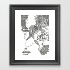 Up side down Framed Art Print