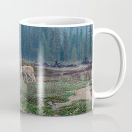 White Wolf in the Wilderness Coffee Mug