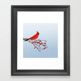 AFE Red Cardinal Framed Art Print