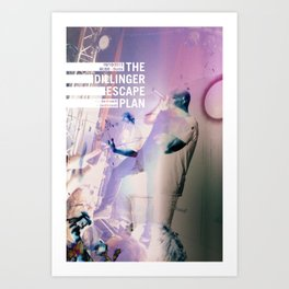 Dillinger Escape Plan glitches Berlin Art Print