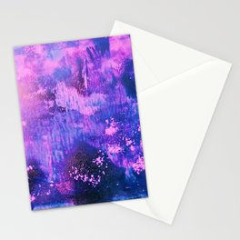 Nightingale Abstract Painting Stationery Cards