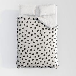 Dalmatian Dots Black White Spots Comforters