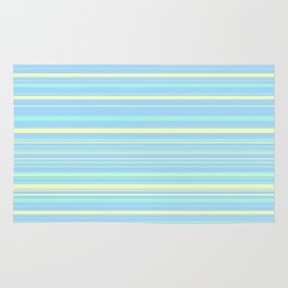 Sky Blue & Light Yellow Candy Lines Rug