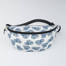 Watercolor Blueberries Fanny Pack