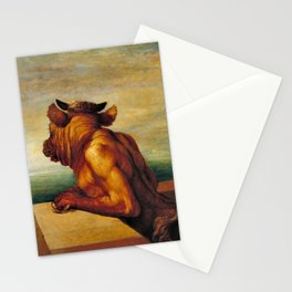 George Frederic Watts - The Minotaur - Digital Remastered Edition Stationery Cards