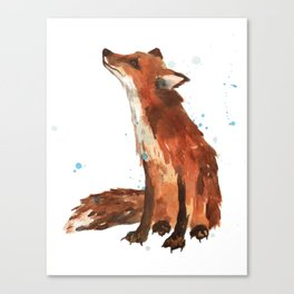 Mindful Fox Canvas Print