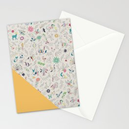 Pez Otomi yellow by Ana Kane Stationery Cards