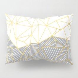 Ab Half and Half Grey Pillow Sham