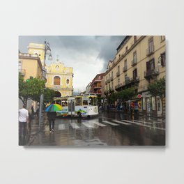 Rainy Sorrento Metal Print