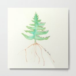 Tree with Isaac Newton Quote Metal Print