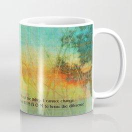 Serenity Prayer Colorful Trees Coffee Mug