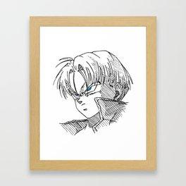 Future Trunks DBZ Drawing Framed Art Print