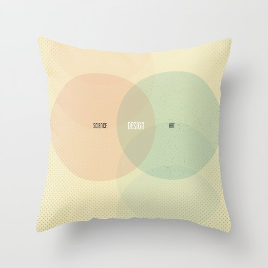 Design is Where Science and Art Break Even Throw Pillow