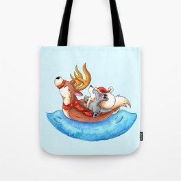 Pool Party Santa Tote Bag