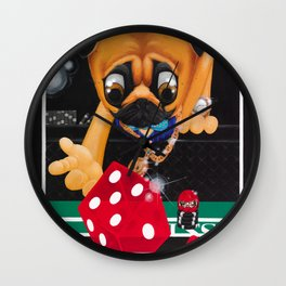 Pugsy the Playa Wall Clock