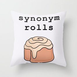Synonym Rolls pun literary grammar Throw Pillow