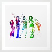 spice girls Art Prints featuring Spice Girls. by Greg21