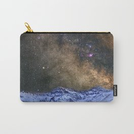 The milky way over the high mountains Carry-All Pouch