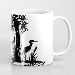 Lowcountry Herons - Papercut Silhouette Scherenschnitte Coffee Mug