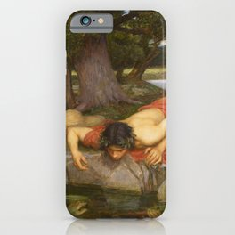 John William Waterhouse - Echo and Narcissus iPhone Case