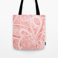 paisley Tote Bags featuring Paisley by Laurie Mildenhall