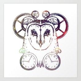 Clockwork Owl - Galaxy Art Print