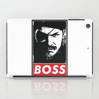 metal gear solid iPad Cases featuring Big Boss - Metal Gear Solid by TxzDesign