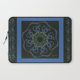 Hope Mandala with Border - Blue Black Laptop Sleeve