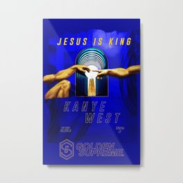 Jesus is King Metal Print
