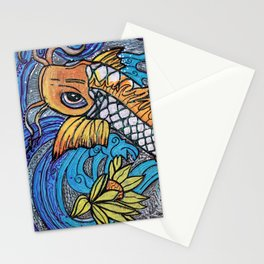 Glitter Fish Stationery Cards
