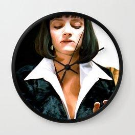 Uma Thurman @ Pulp Fiction Wall Clock