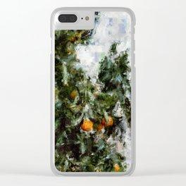 Garden Oranges Clear iPhone Case