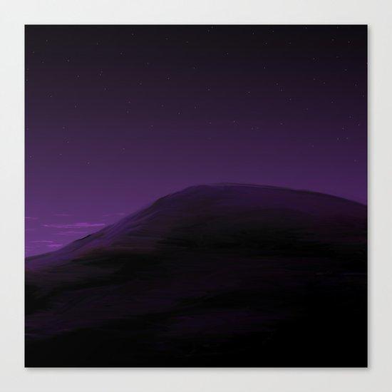 Violet Hill Canvas Print