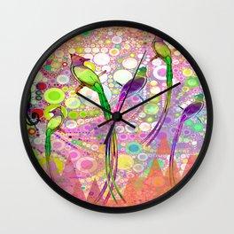 BATIK BIRDS Wall Clock