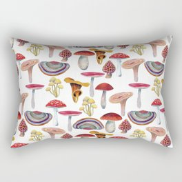 Mushrooms pattern. Hand drawn with colored pencils. Autumn harvest theme. Rectangular Pillow