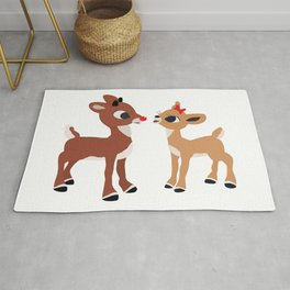 Classic Rudolph and Clarice Rug