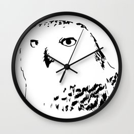 Snowy Owl - Harfang des neiges Wall Clock