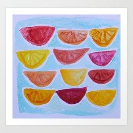 Slices Art Print