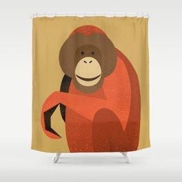 Whimsy Orang Utan Shower Curtain