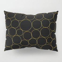 Golden Circles Pillow Sham