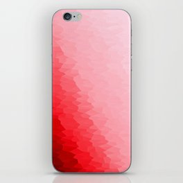 Red Texture Ombre iPhone Skin
