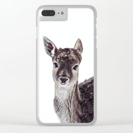 LITTLE FAWN FIONA Clear iPhone Case