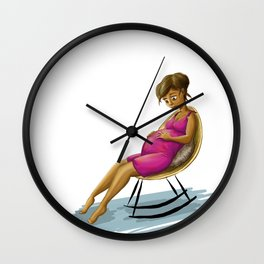 Young mom Wall Clock